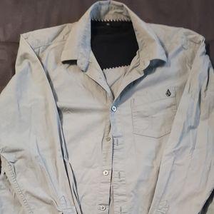 Volcom dress button up shirt